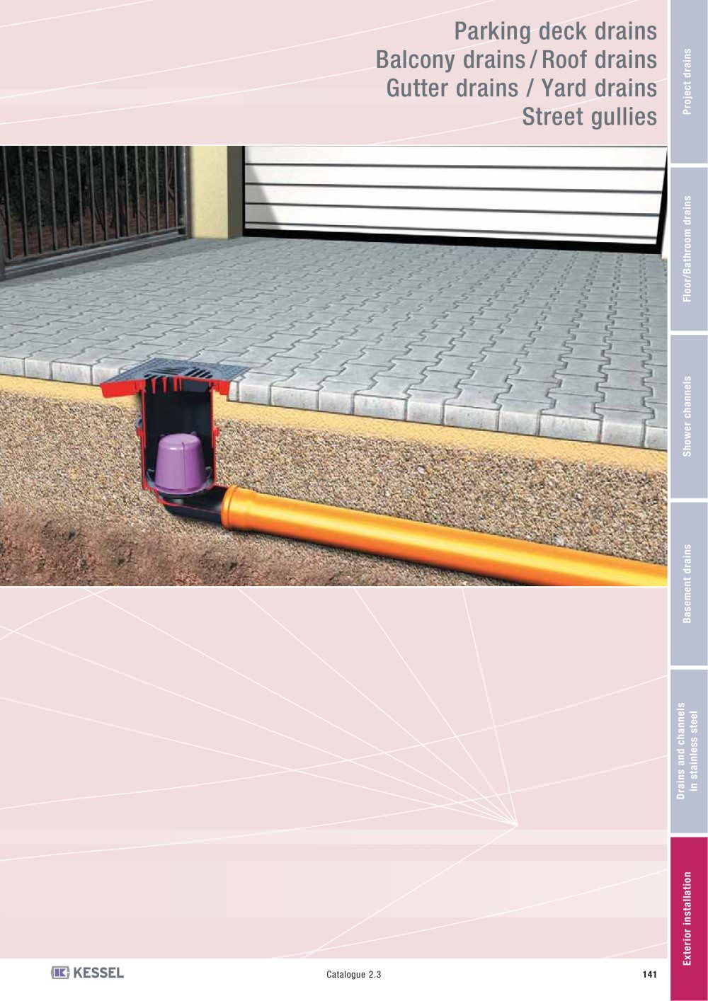 Roof deck linear floor drain section detail google for Roof and floor