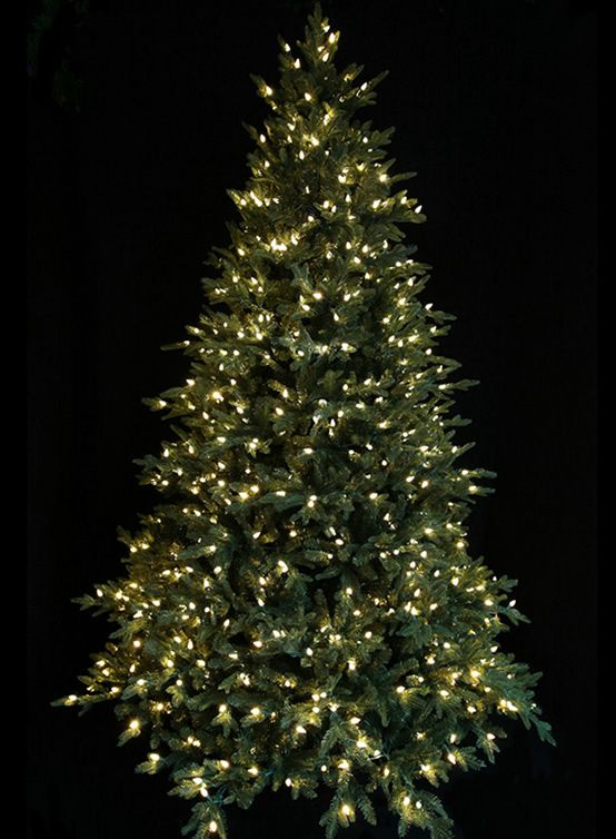 Santa S Best Led Pre Lit Pre Shaped Christmas Trees Features Include Easy To Assemble Led Christmas Tree Lights Christmas Tree Lighting Fir Christmas Tree