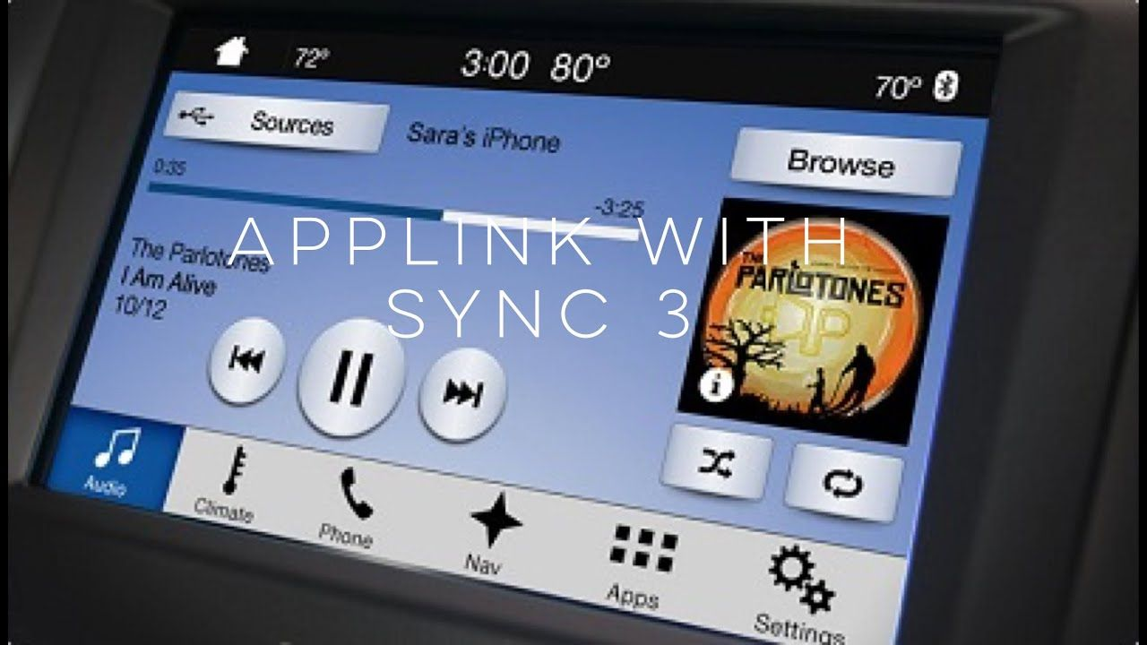 How To Use Applink With Sync 3 Youtube Ford Sync Infotainment