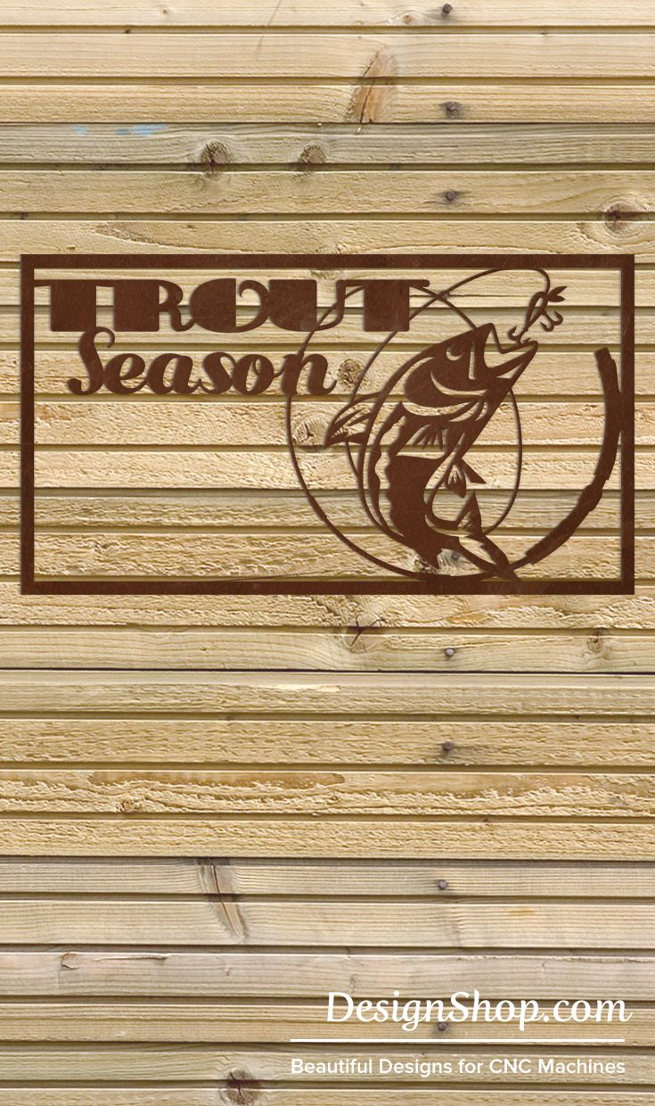 Fish Wall Art - Cut from metal with CNC. This DXF file is designed ...