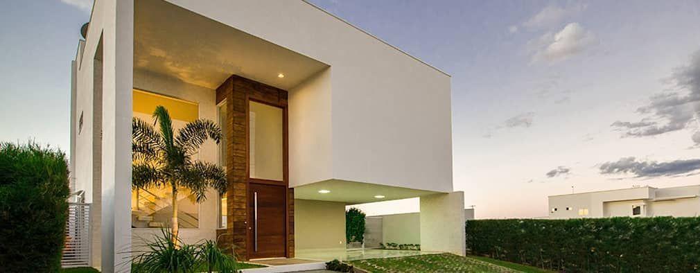Fachada Frontal Casas minimalistas por Duo Arquitetura Fachadas - casas minimalistas