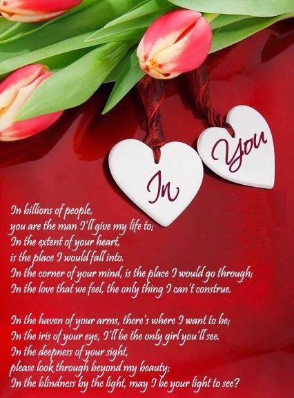 love poems for boyfriend or husband - Valentines Day Poem For Him