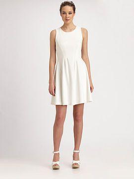 c03e3b3ebda Shoshanna Thalie short  Dress in  white with gorgeous pleating! Anyone else  thinking  Charlies Angels    )