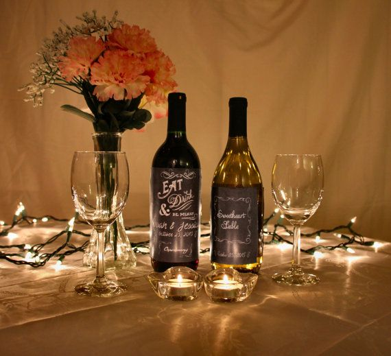 Make your day even more special with these personalized wine bottle labels! They are the perfect addition to any table center-piece and can be kept