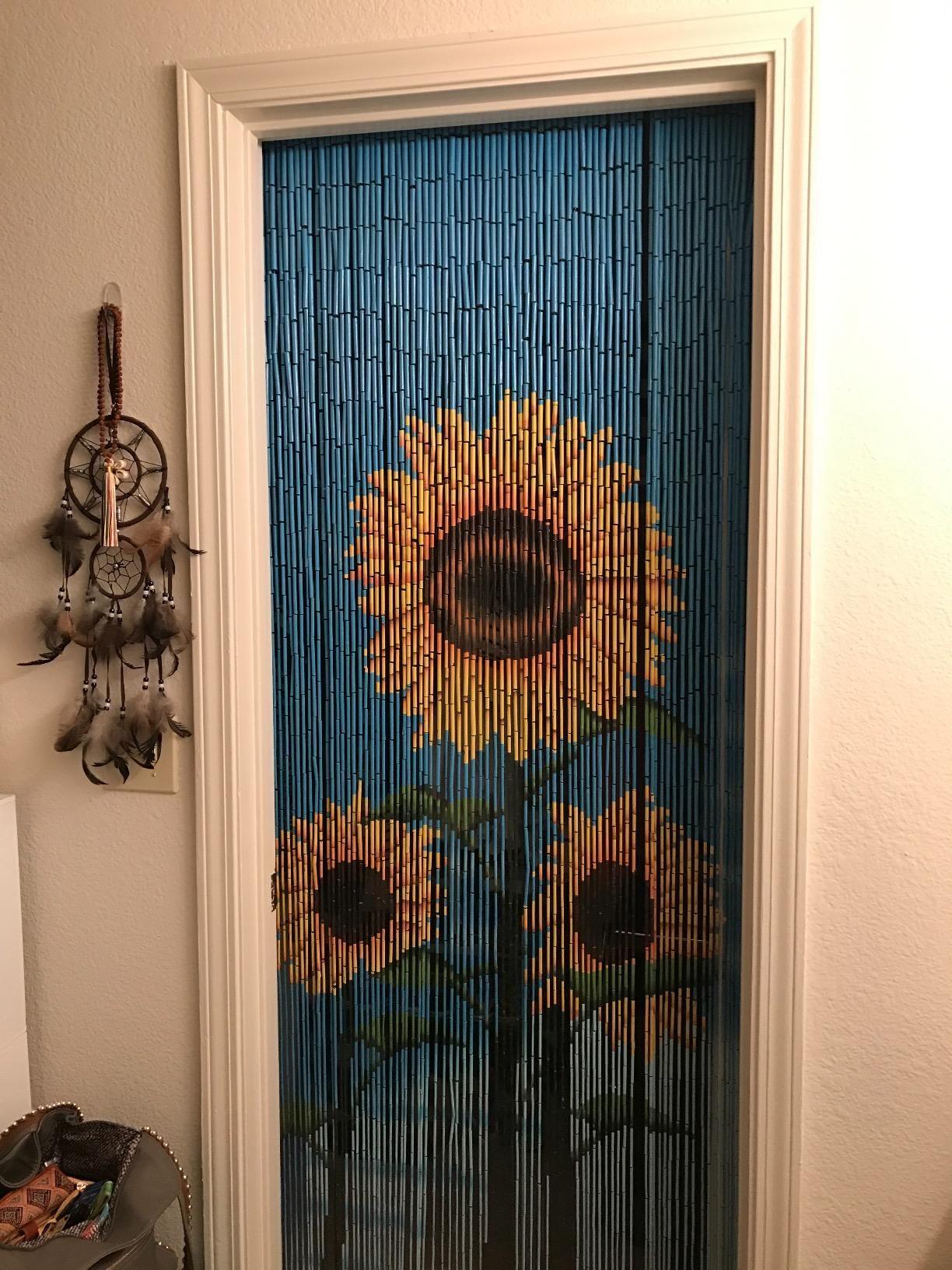 Amazon Com Beadedstring Natural Bamboo Wood Beaded Curtain 90