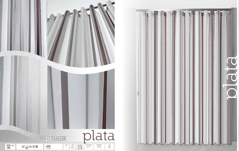 Nuevo modelo de cortinas de onda perfecta con rayas modelo for Modelos de cortinas