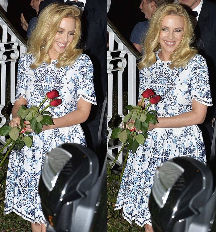 Kylie Minogue Stuns in Two Summery Dolce & Gabbana Ensembles in ...