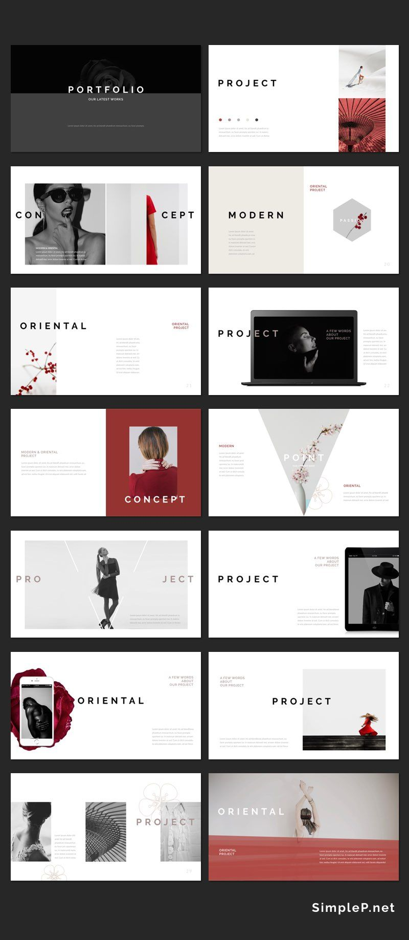 Oriental PowerPoint Template | Powerpoint presentation templates ...