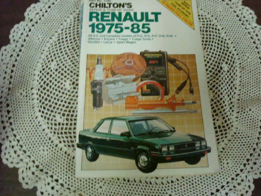 ManualsPRO - Chiltons Renault Repair Manual 1975-85 by Chilton Automotive (1985Paperback) https://t.co/Bh2gLYNjh5 https://t.co/umDMdCoBmj