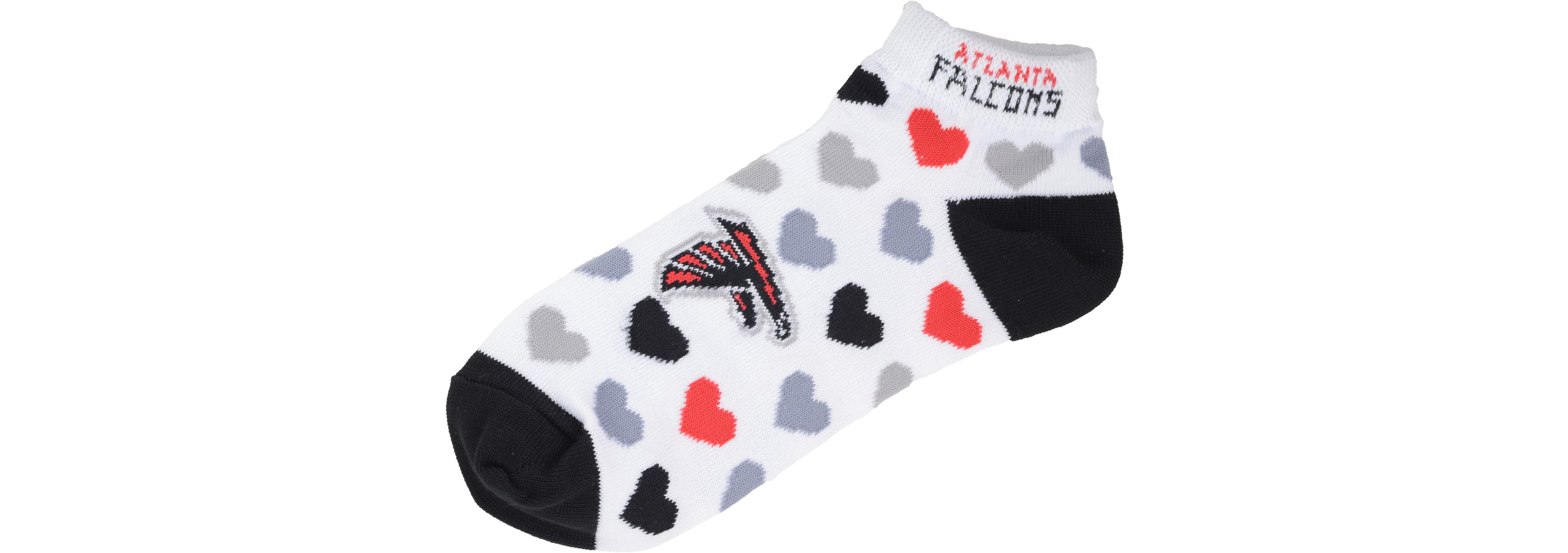 For Bare Feet Women s Atlanta Falcons Heart Logo Repeat Socks