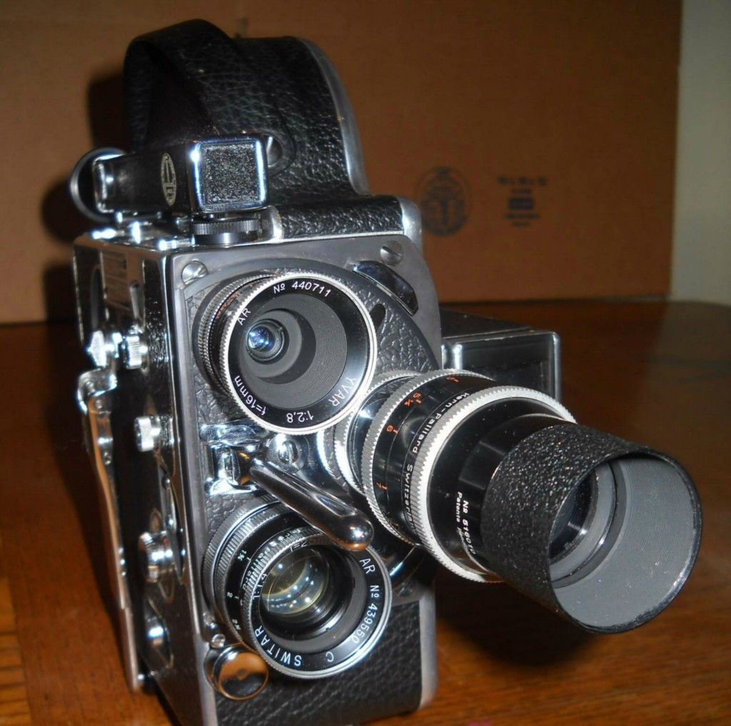 Vintage Paillard Bolex H 16 16mm Movie Camera with Lens and Case | eBay