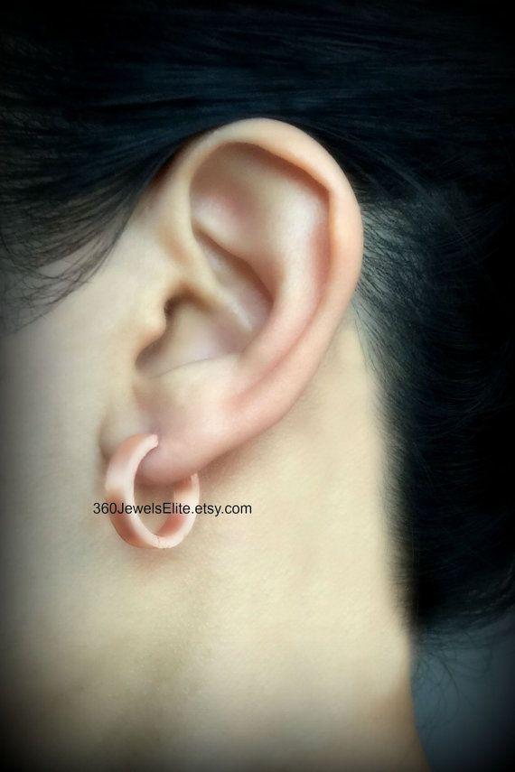 XL Rose Gold Hoop Earring For Men - Earrings For Guys ...