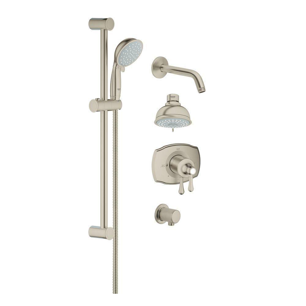 Retrofit Shower System In Brushed Nickel InfinityFinish