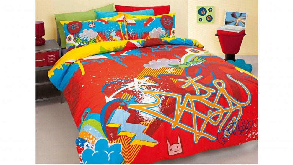 Graffiti Double Quilt Cover Set Quilt Cover Sets Quilt Cover Duvet Cover Sets