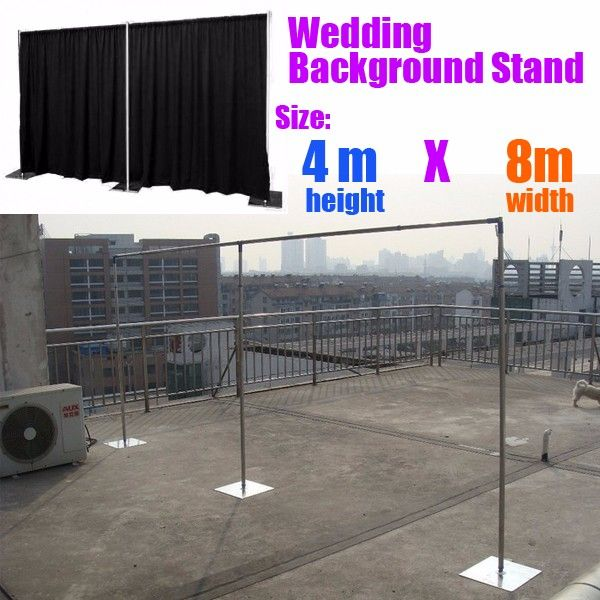 Best Price 48m Wedding Curtain Stand Stainless Steel Pipe Backdrop With Expanded