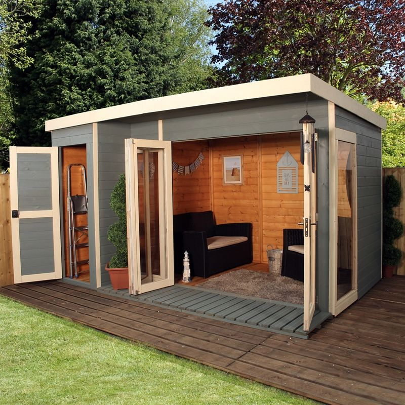 12x8 Garden Room With Side Shed