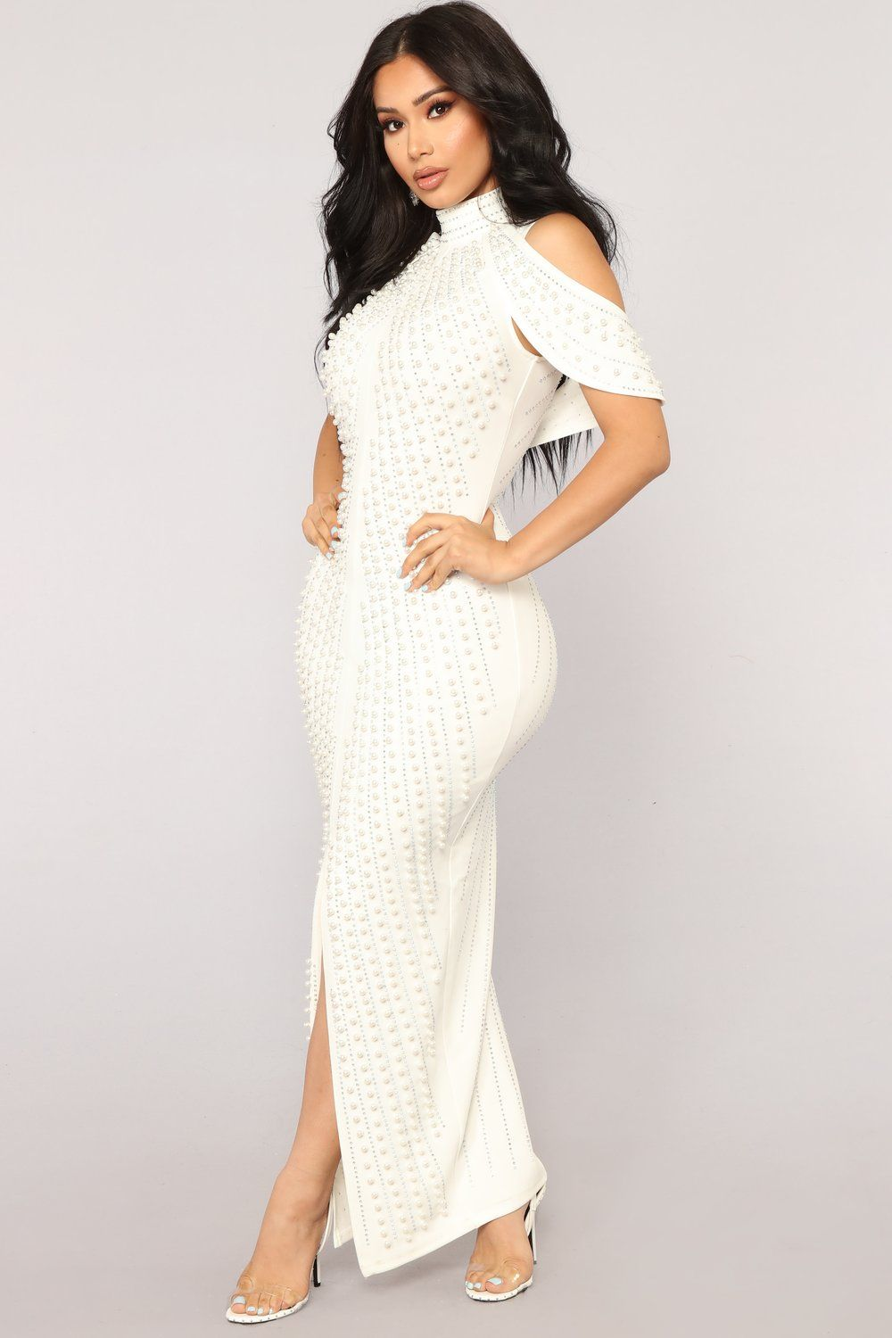 6b74443d1648f Look Beyond The Pearls Dress - White Fashion Nova White Dress, Women's Fashion  Dresses,