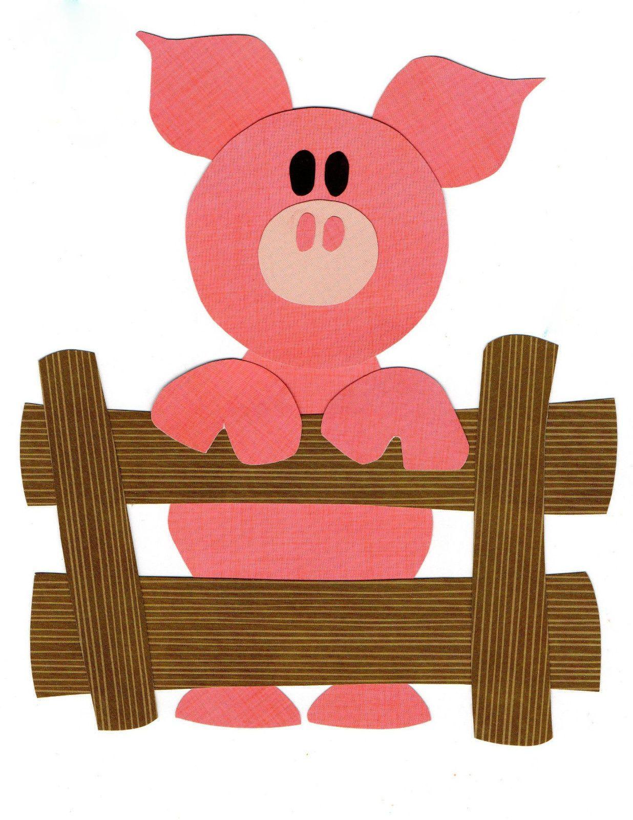 Quilt Applique Pattern Template Farm Animal Pig Piglet