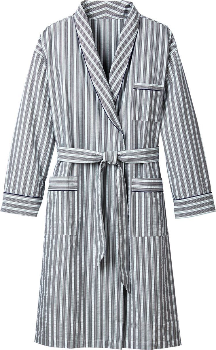 Men s Cotton Seersucker Bathrobe  This all-season robe is offered in three  handsome stripes—brick red with blue and white stripes a1ed8a6eb