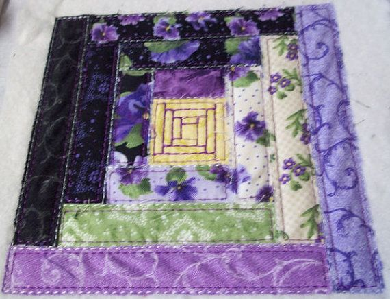In The Hoop Pieced Log Cabin Quilt Block Machine By