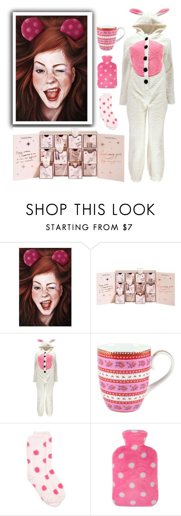 """""""Counting down the days"""" by molly2222 ❤ liked on Polyvore featuring Charlotte Tilbury, Boohoo, PiP Studio, New Directions, onesie and advent"""