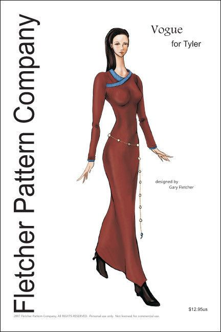 2007 IFDC Dress Doll Clothes Sewing Pattern for Tyler by Fletcher Patterns