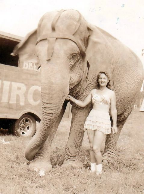 """Beers-Barnes Circus 1943/ """"Alice"""" and Lois Barnes"""