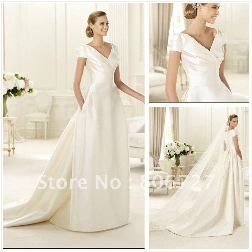 Simple Elegant Wedding Dress With Sleeves Woman And More: Find More Wedding Dresses Information About New Design