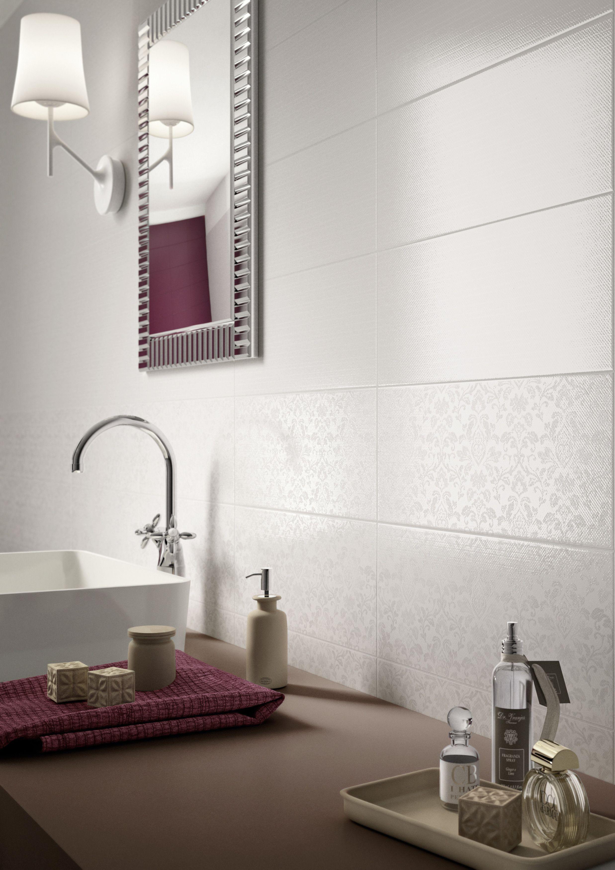 Salle De Bain Parents ~ Marazzi Shine White 20×50 Cm Mh9k Feinsteinzeug Gewebeoptik