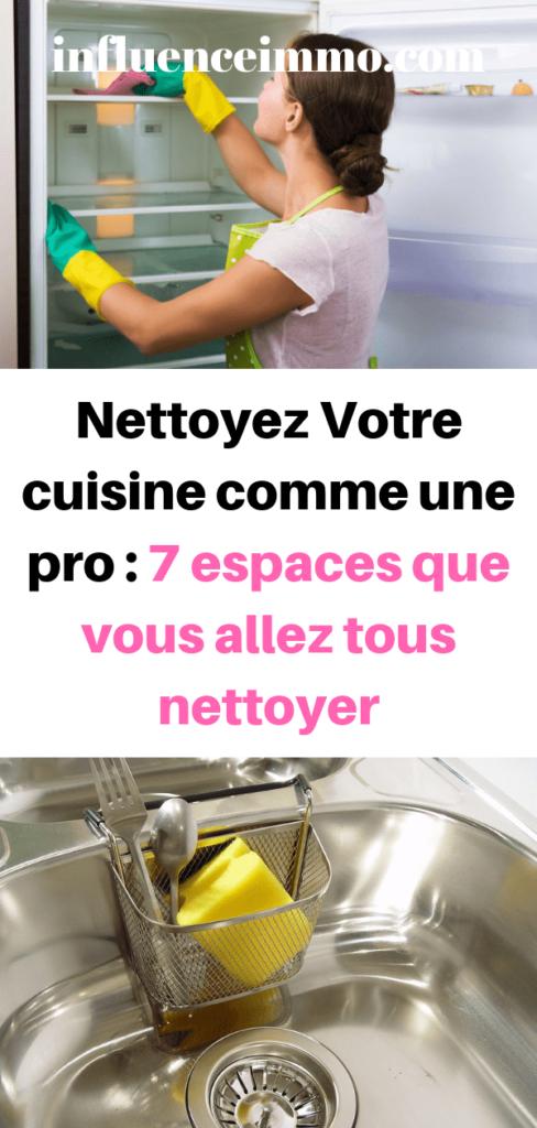 7 endroits de cuisine a nettoyer imperativement influence cuisine planning m nage produit - Astuce maison propre ...