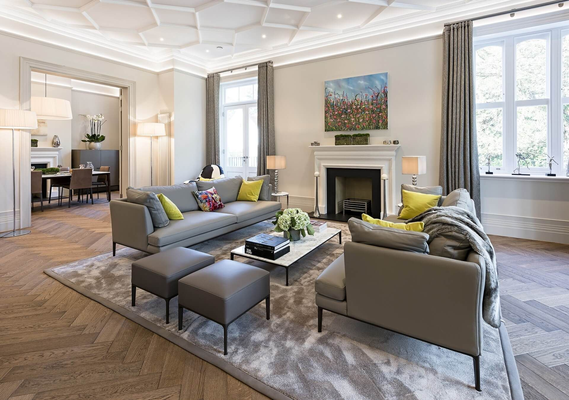 Modern Luxury Abounds in This Historic English Mansion is part of Classic Contemporary Living Room - Escape to the country with a lavish contemporary twist