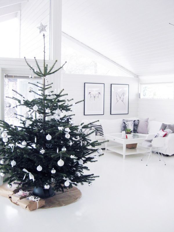 25 Simple And Minimalist Christmas Tree Decorations More