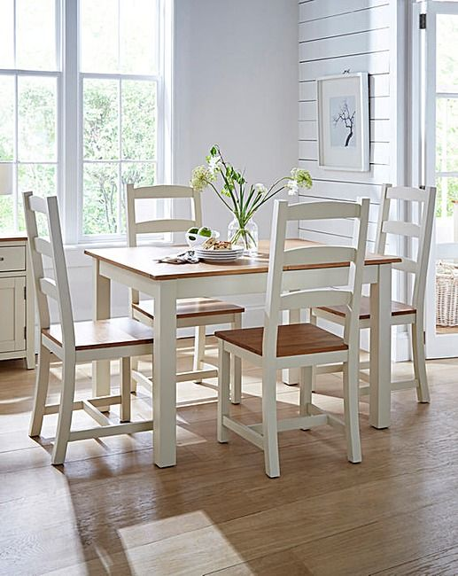 The Harrogate Two Tone Pair Of Dining Chairs Are A Timeless Accompaniment To Any Room