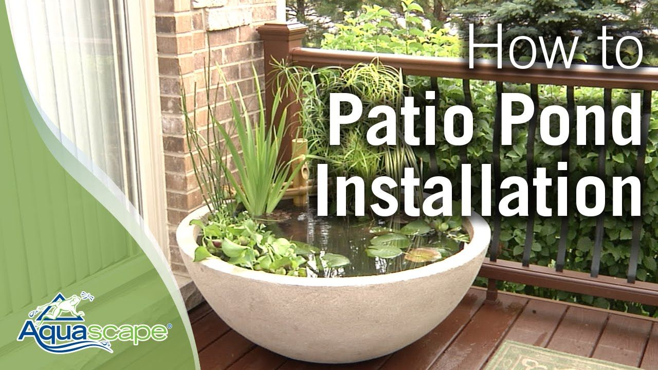 How To Create An Easy Container Water Feature With Aquascapeu0027s Patio Pond