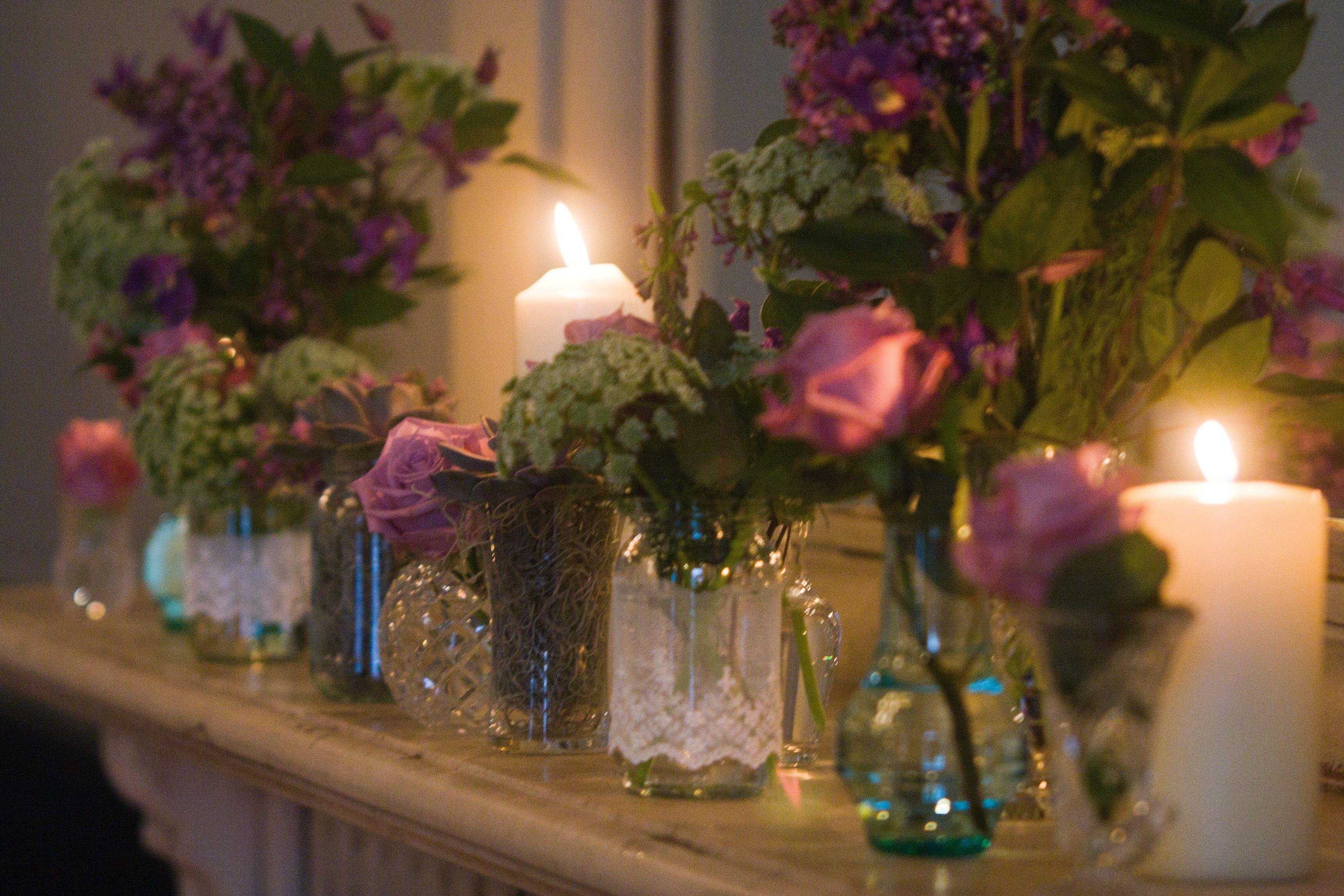 Wedding decor images  Fireplace wedding decor  wedding ideas  Pinterest  Weddings and