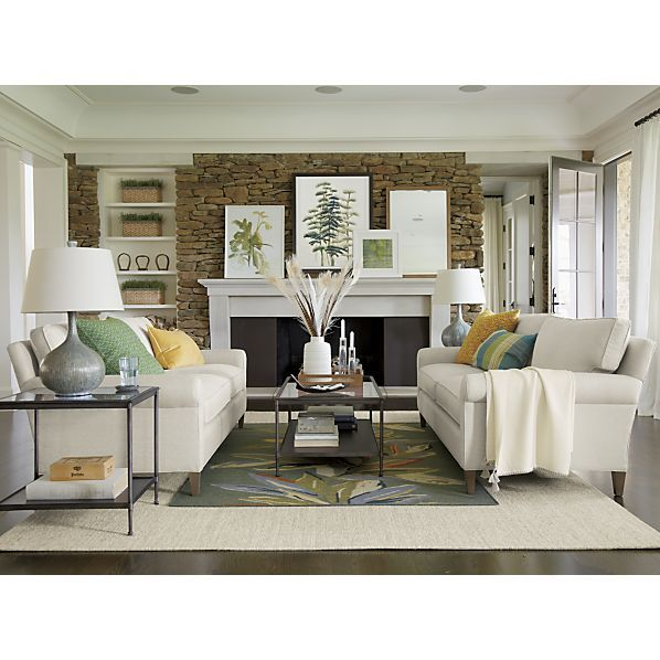 Crate And Barrel Living Room Ideas montclair 2-seat sofa from crate and barrell---possible | 455 s