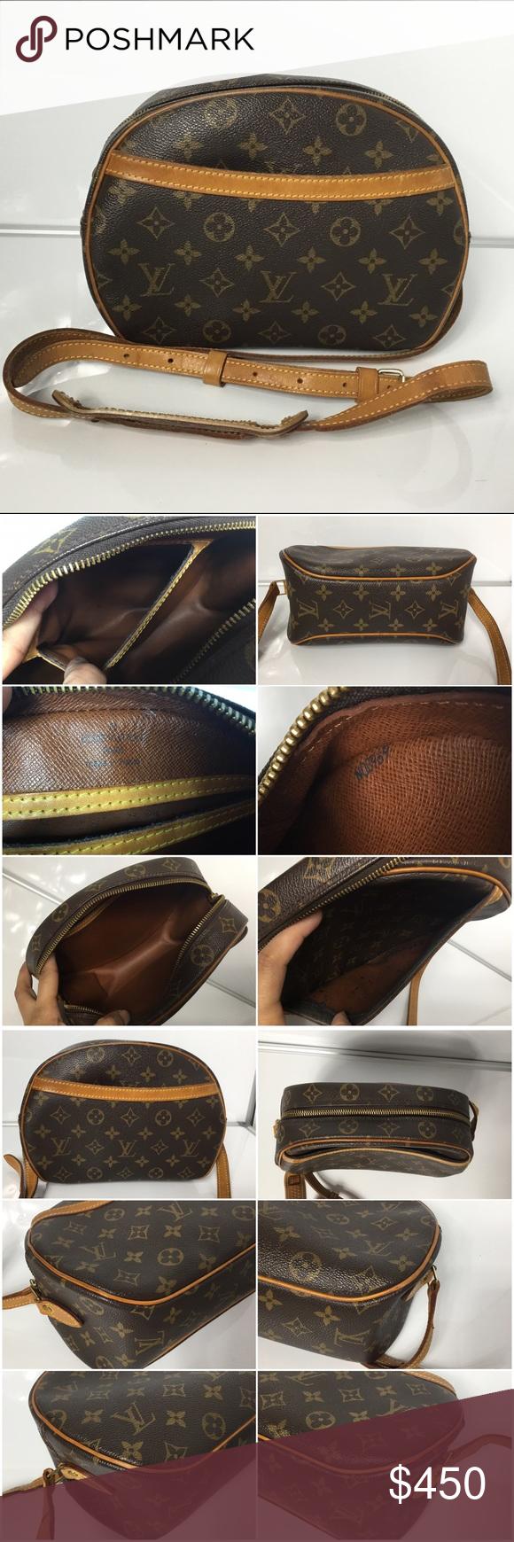 ef4157f91667 100% Authentic Louis Vuitton Blois Crossbody Bag 100% Authentic Louis  Vuitton Monogram Blois Crossbody