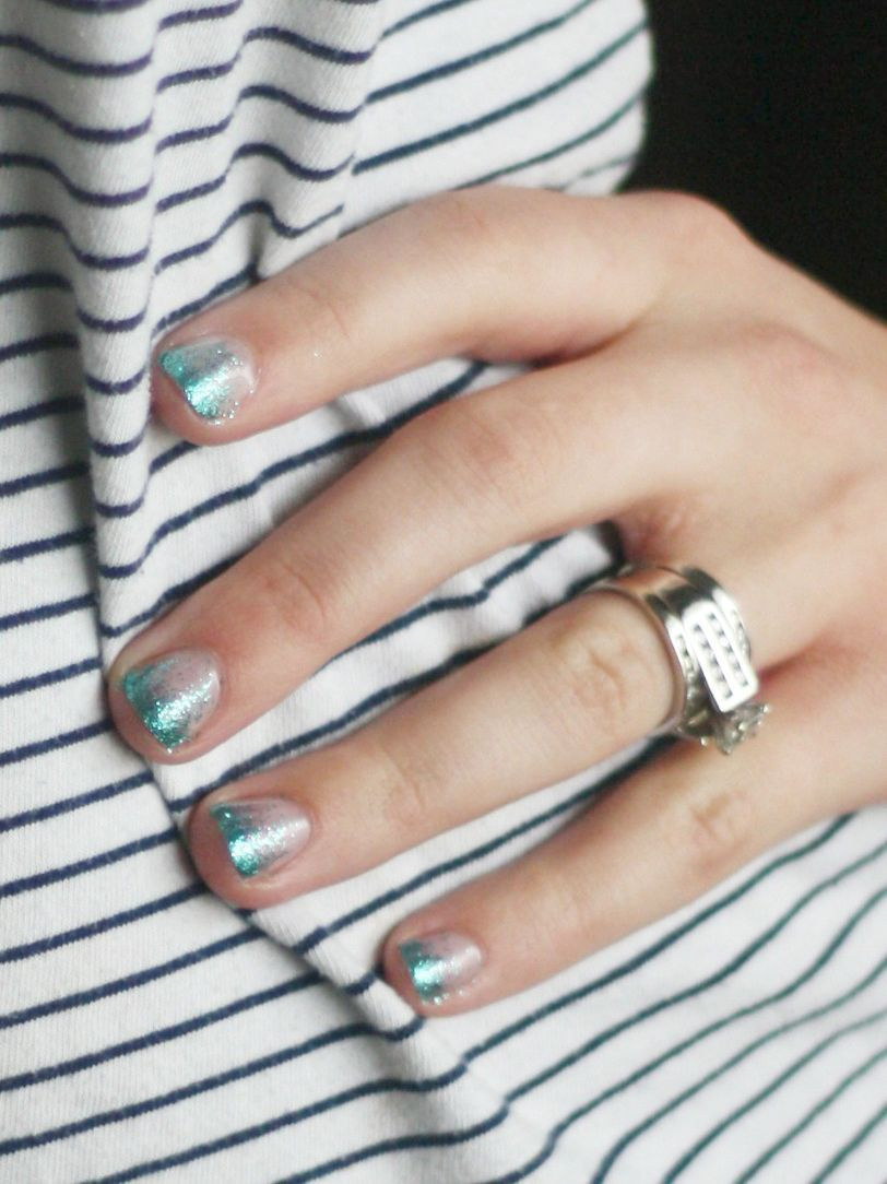 nail art designs braid fashion makeup Gradient glitter gel nails ...