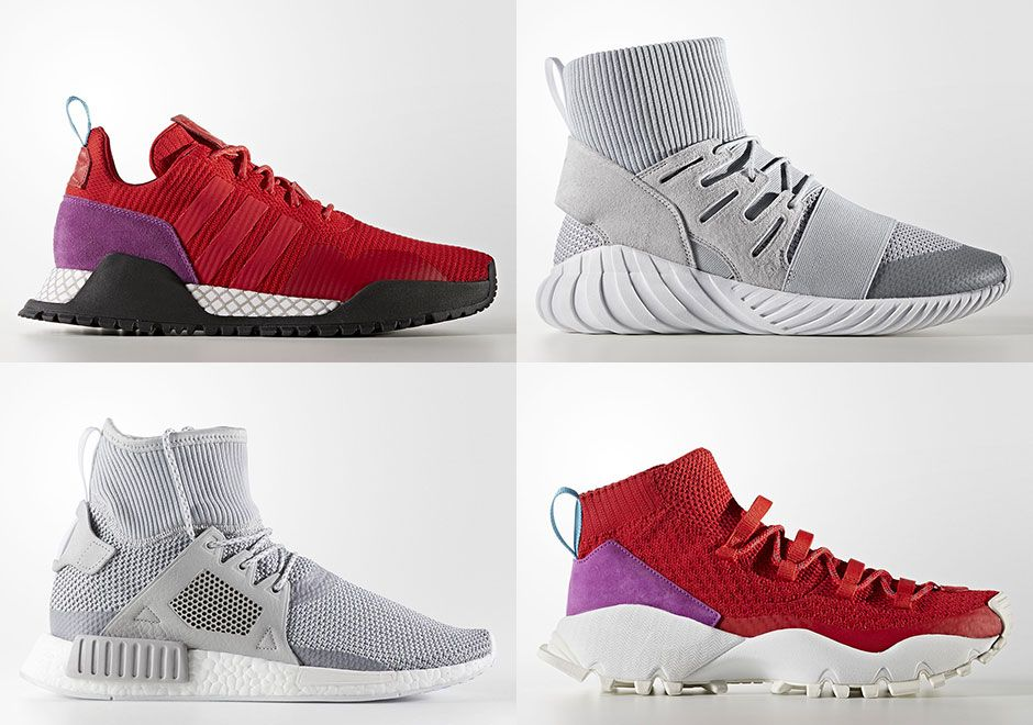 adidas Winter Sneaker Assortment Red and Grey |