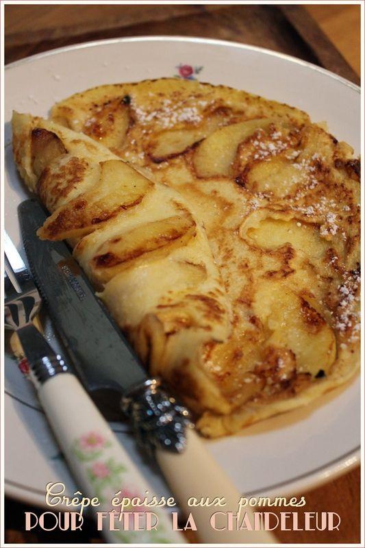 Crêpe épaisse aux pommes pour la Chandeleur, recette de ...