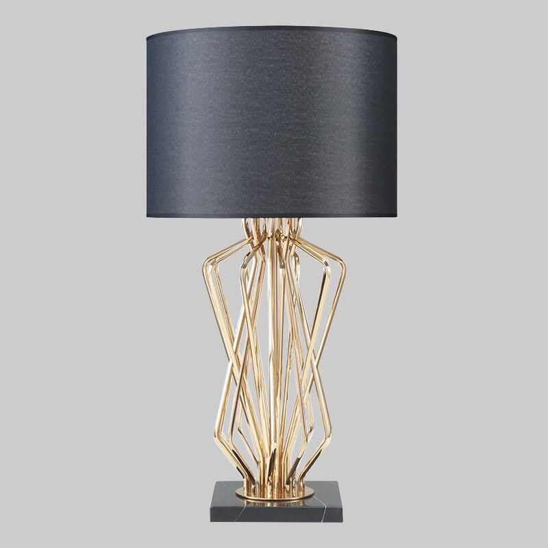 Pendant Lights Modern Table Lamp For Study Room Contemporary Desk Lamp Bedside Lamp Lampara De Mesa Metal Plating Table Lamp Handsome Appearance