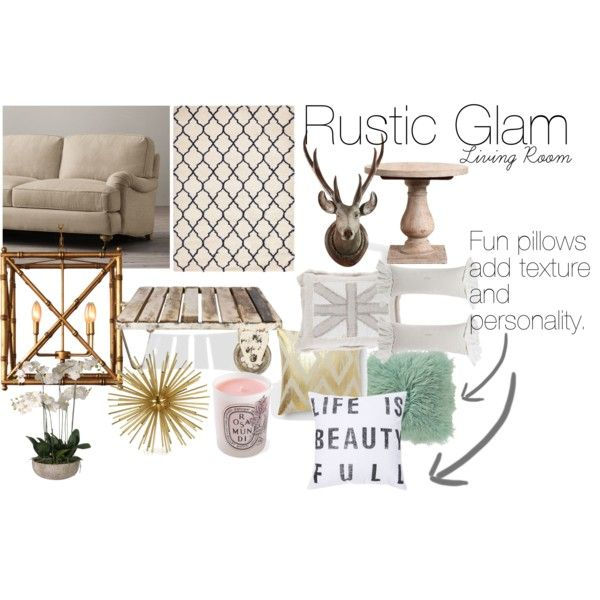 Rustic Glam Living Room By Menmyhouse On Polyvore