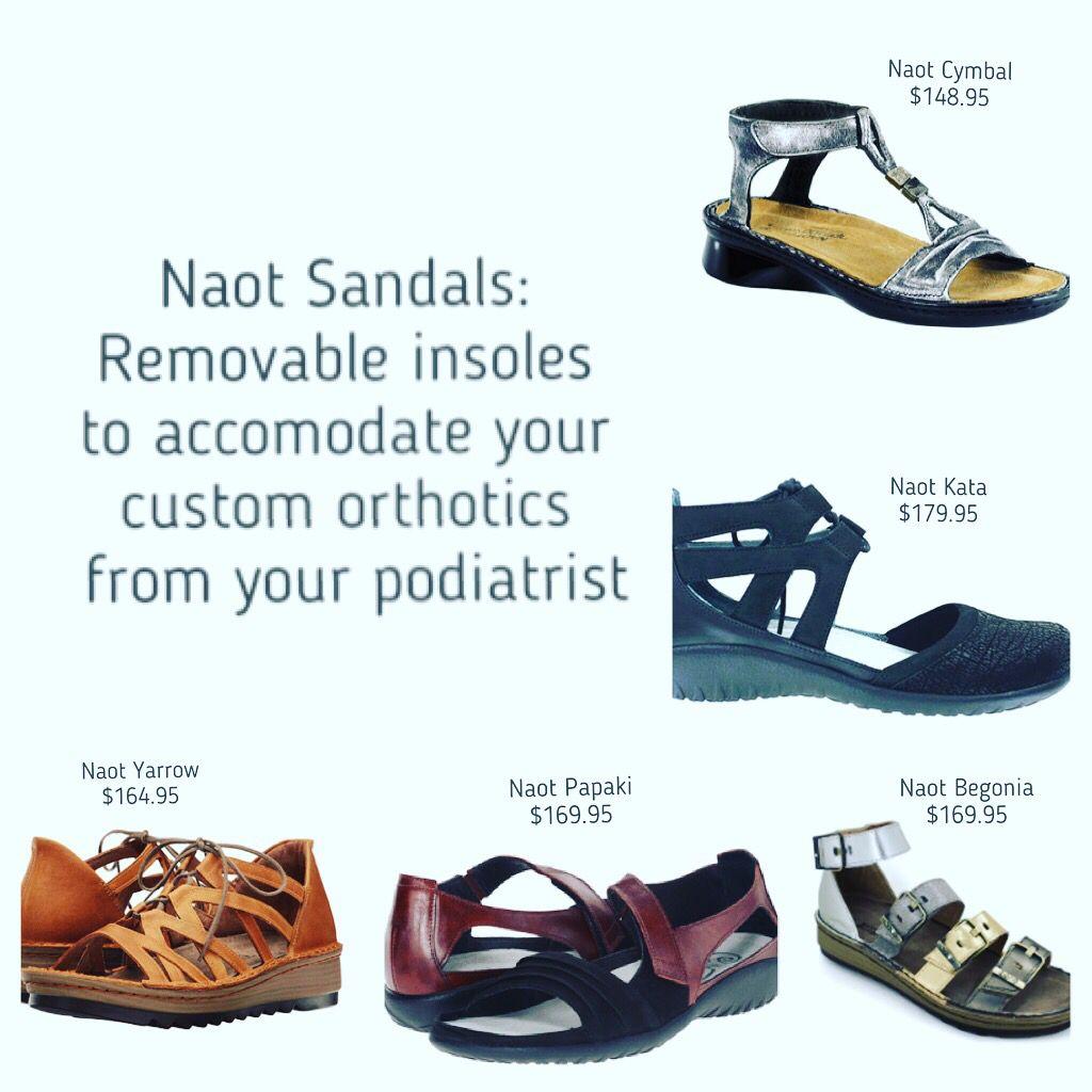 Orthotics, Naot sandals, Naot shoes