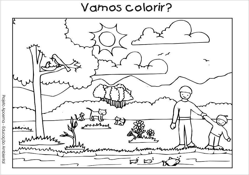 Resultado De Imagem Para Recursos Naturais Para Colorir Com