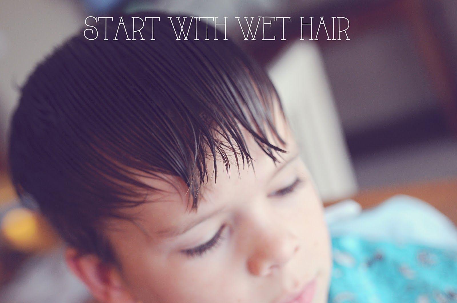 My 4 misters their sister diy boys haircut hair
