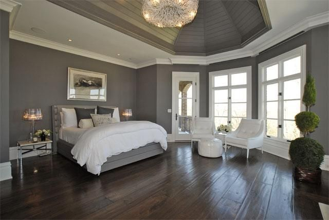 Grey Bedrooms With Wood Floors   Google Search
