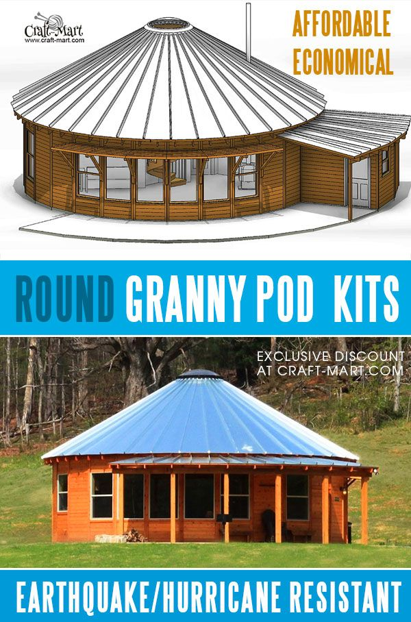 Economical round wooden cabins can be nice granny pods