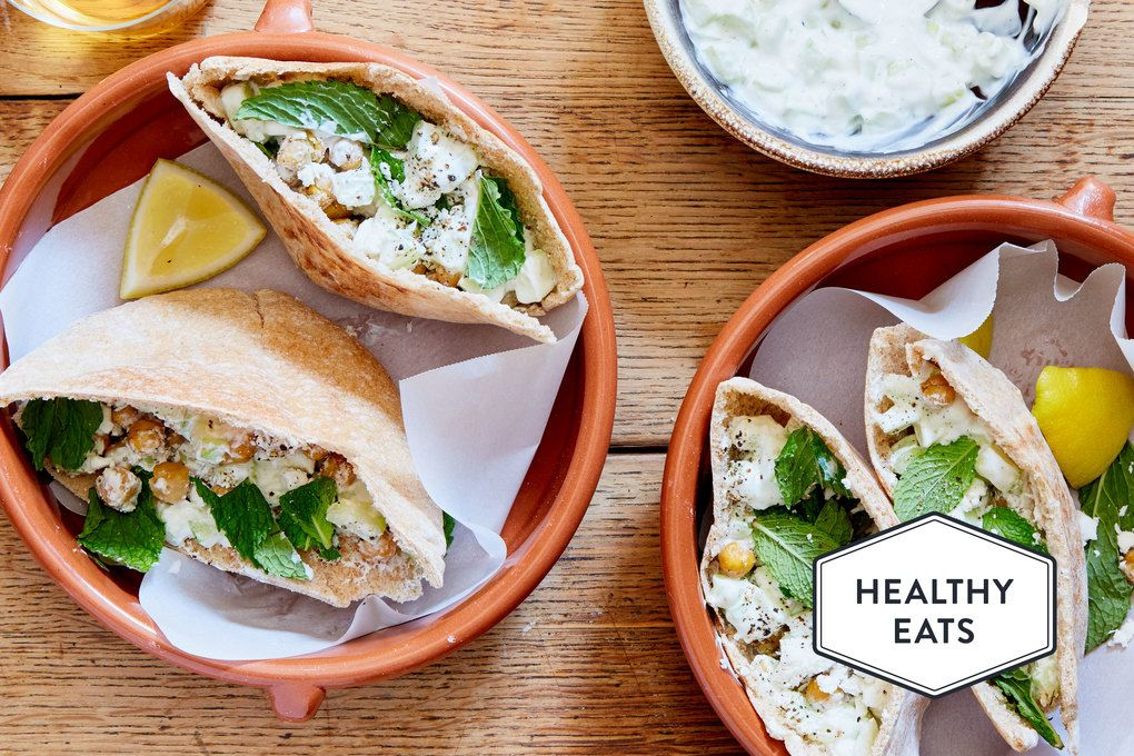 Spiced Chickpea Pitas