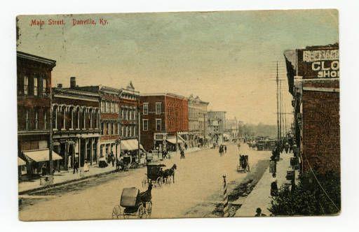 Main Street Danville Ky Ronald Morgan Postcard Collection