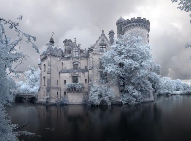 This forgotten castle (Château de la Mothe-Chandeniers) was abandoned after a fire In 1932. Seeing it up close is breathtaking. These days it seems like castles only exist in storybooks and Disney movies